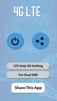 LTE Only Force 4G Network - Force LTE Only poster