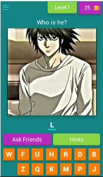 Guess Anime Character poster