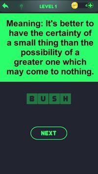 Proverbs fun quiz screenshot 2