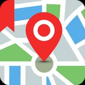 احفظ الموقع بنظام تحديد المواقع (GPS) أيقونة