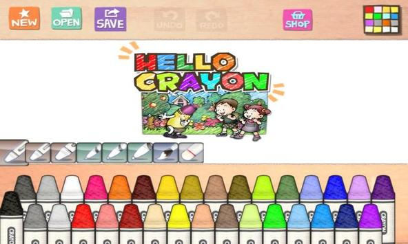 Hello Crayon poster