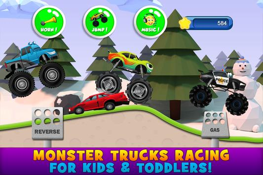 Monster Trucks Game for Kids 2 poster