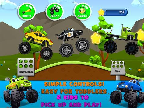 Monster Trucks Game for Kids स्क्रीनशॉट 10
