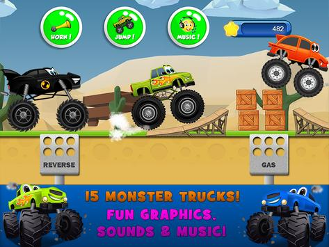 Monster Trucks Game for Kids स्क्रीनशॉट 12