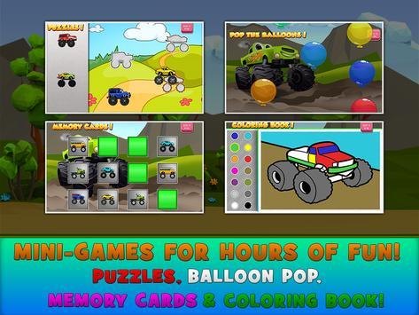 Monster Trucks Game for Kids स्क्रीनशॉट 13
