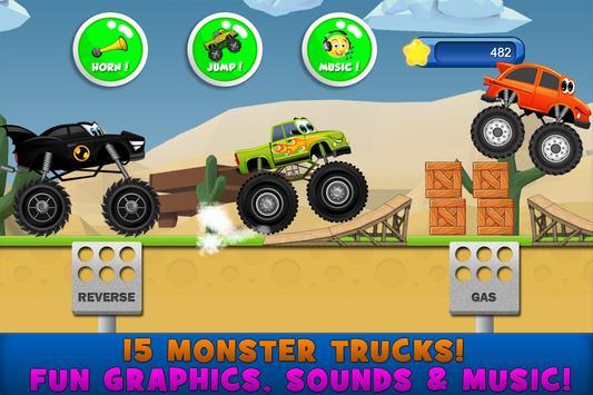 Monster Trucks Game for Kids स्क्रीनशॉट 1
