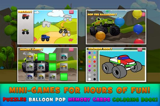 Monster Trucks Game for Kids 2 screenshot 2