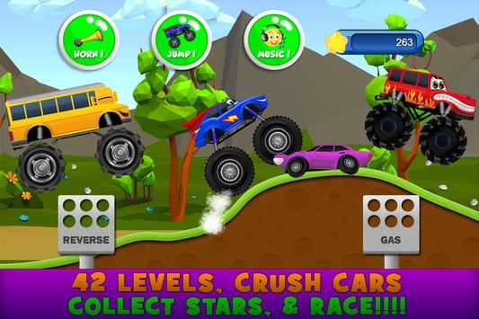 Monster Trucks Game for Kids स्क्रीनशॉट 3