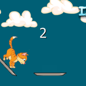 Jumping cats icon