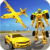 US Police Car Robot Transform : Transporter Plane icon