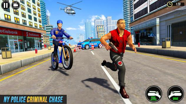 Police BMX Bicycle Street Gangster Shooting Game poster