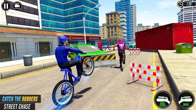 Police BMX Bicycle Street Gangster Shooting Game screenshot 3