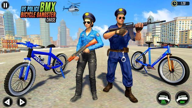 Police BMX Bicycle Street Gangster Shooting Game screenshot 7