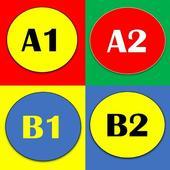 Test Zur Grammatik A1 A2 B1 B2 icon