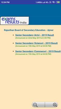 RBSE Result 2019 - Ajmer Board screenshot 1