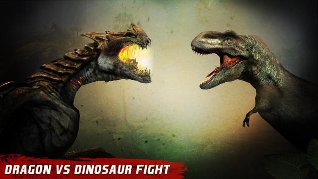 Dragon vs Dinosaur Hunter poster
