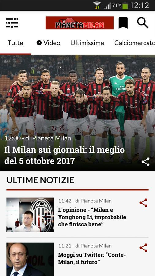 Pianeta Milan For Android Apk Download