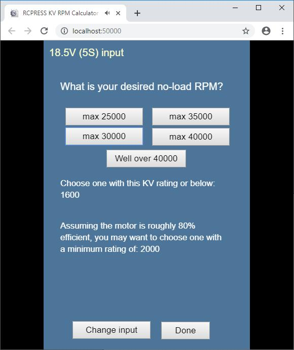 RCPRESS Kv Rpm Calculator for Android - APK Download