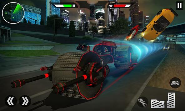 Flying Superhero Robot Transform Bike City Rescue poster