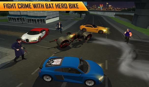 Flying Superhero Robot Transform Bike City Rescue screenshot 13