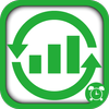 Electric wave recovery icon