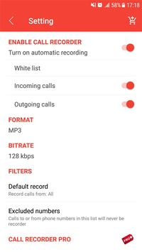 Auto call recorder (Best phone recorder) screenshot 3