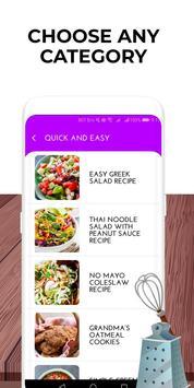 Tasty recipes screenshot 1