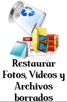 Recuperar Archivos y Fotos Borradas 100% Guide New poster