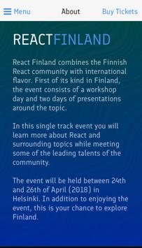 React Finland poster