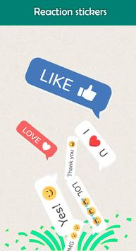 Reaction Stickers for whatsapp WAStickerApps 2019 poster