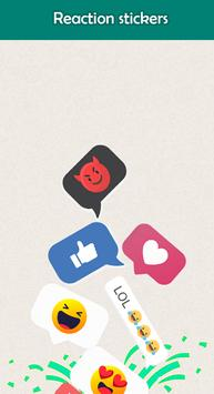 Reaction Stickers for whatsapp WAStickerApps 2019 screenshot 1