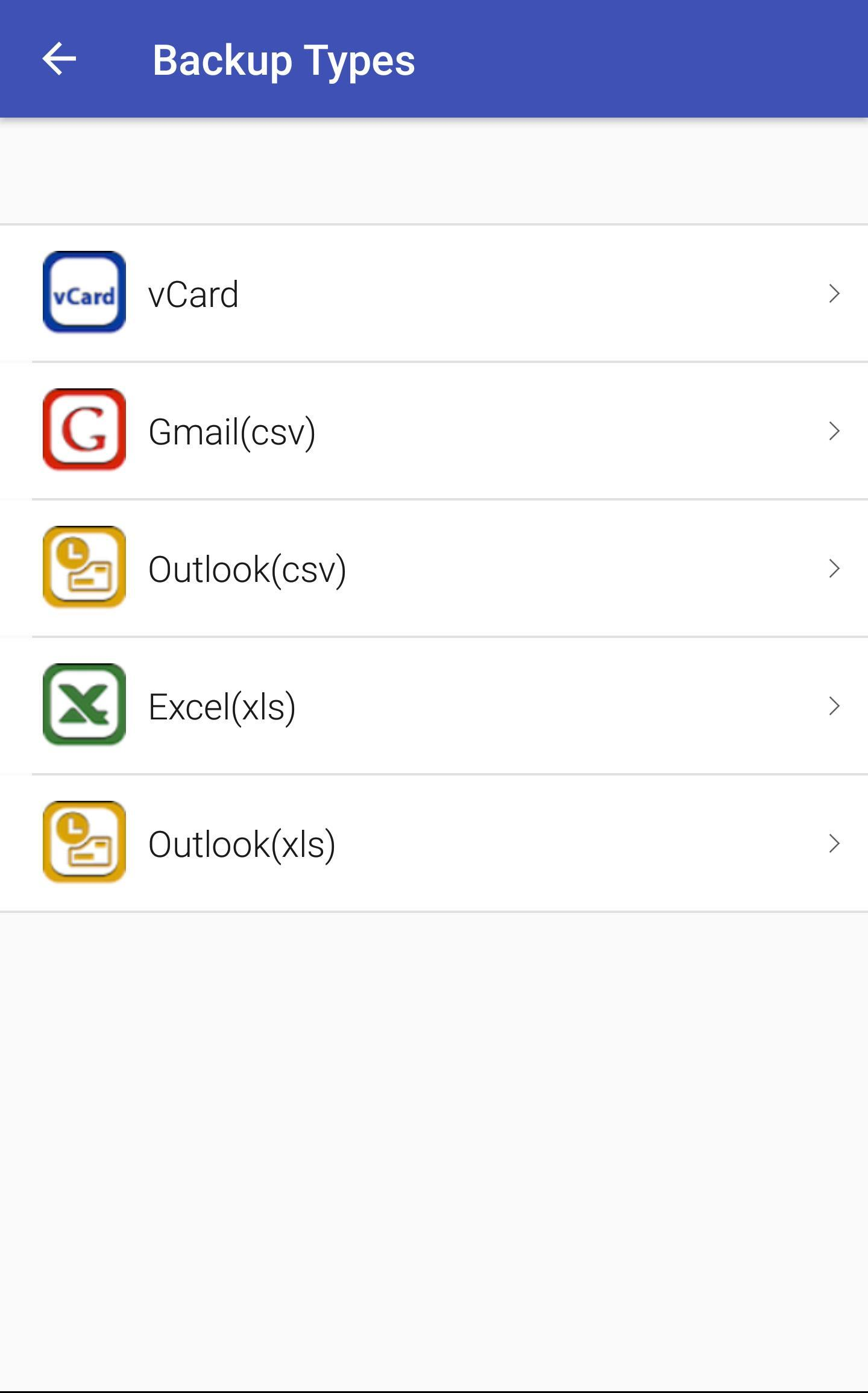 Backup & Import Contacts for Gmail, Excel & vCard for