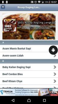 1001 Resep Daging Lengkap poster