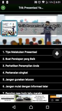 Trik Presentasi Yang Baik poster