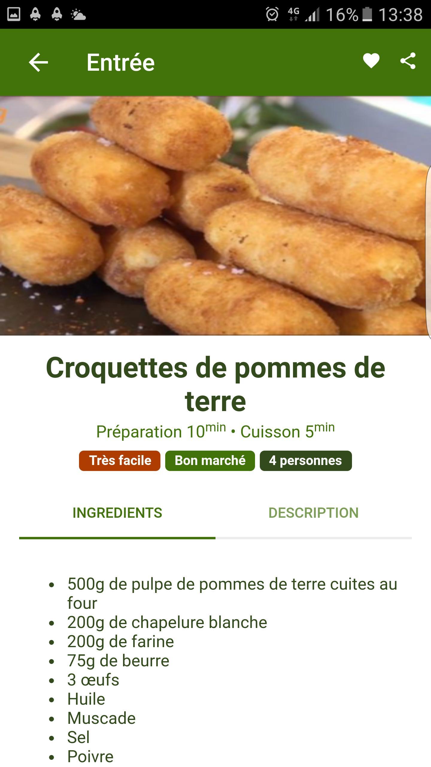 Croquette De Jambon Au Four recettes pomme de terre for android - apk download
