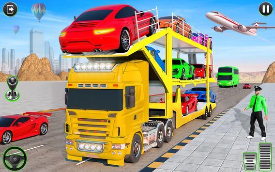 Crazy Car Transport Truck plakat