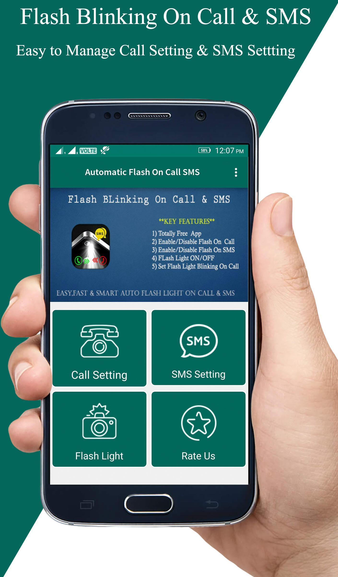 Automatic Flash On Call & SMS for Android - APK Download