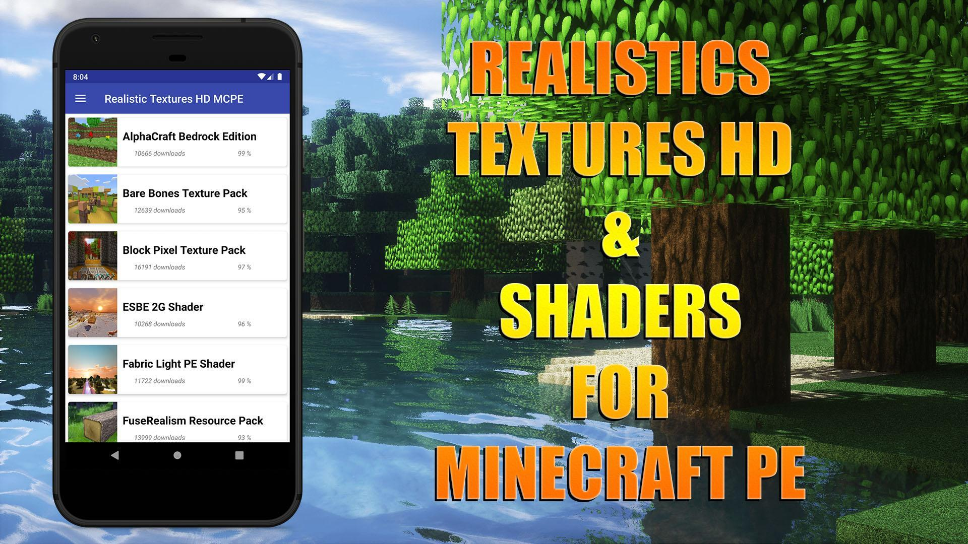 Realistic Texture Pack HD for Minecraft PE para Android - APK Baixar