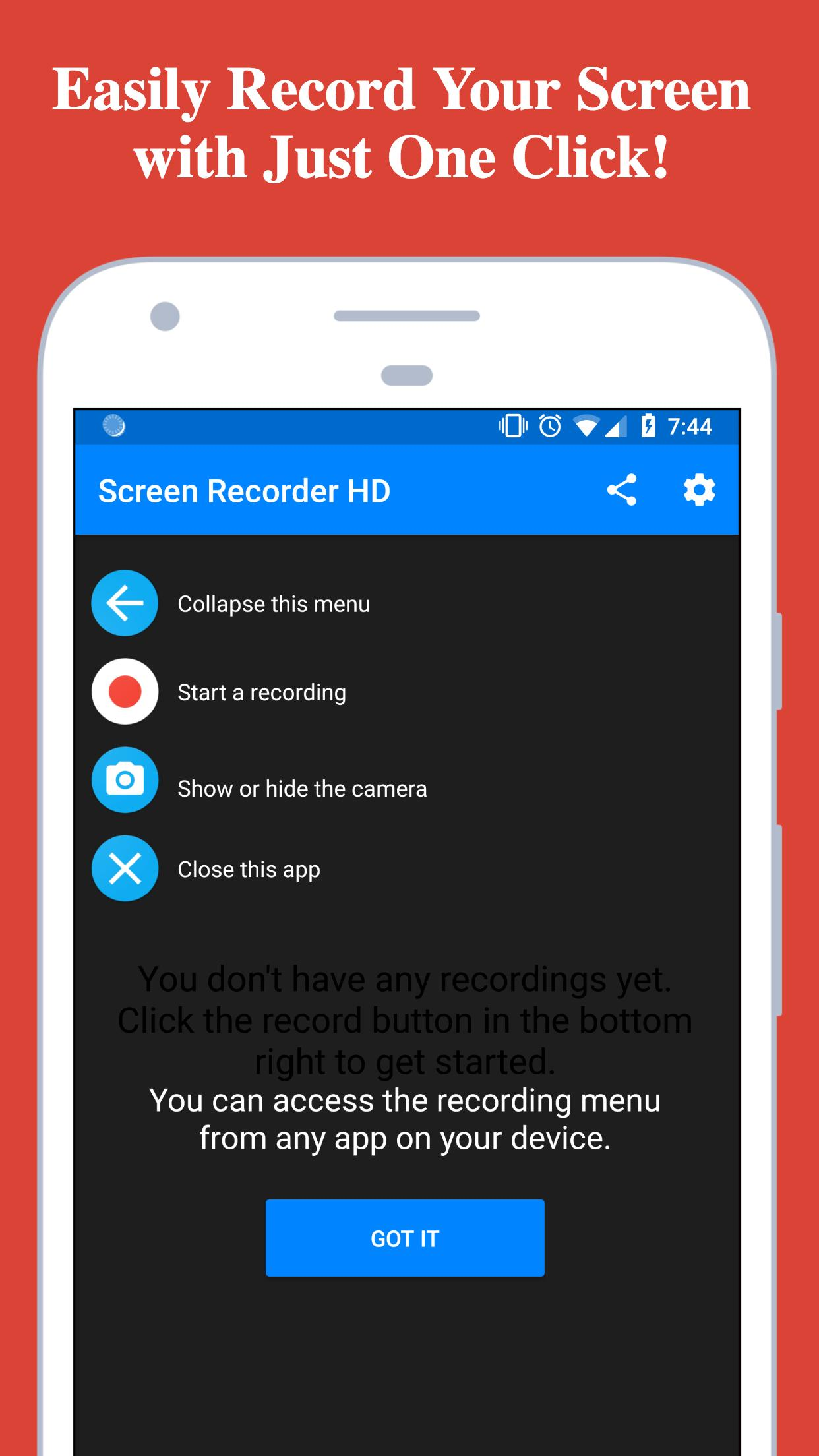 Screen Recorder - Record with Facecam And Audio for Android - APK