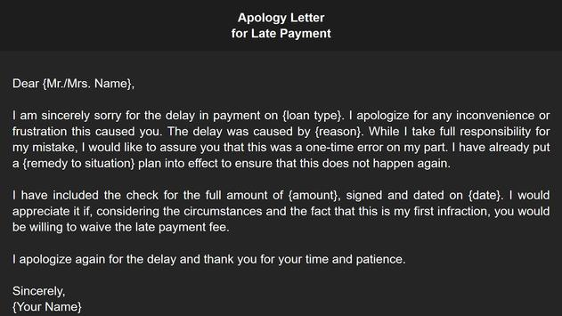Apology Letter screenshot 12