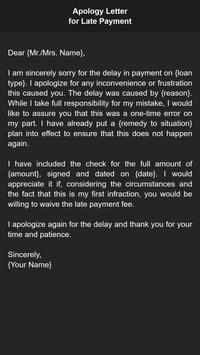 Apology Letter screenshot 3