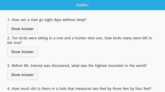 Riddles with Answers Free screenshot 8