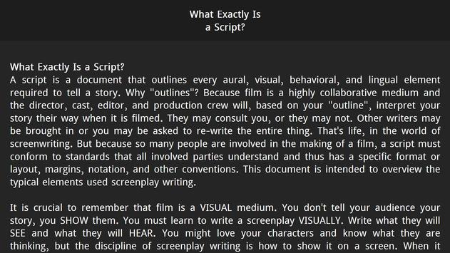 Script Writing : Film Screenplay for Android - APK Download