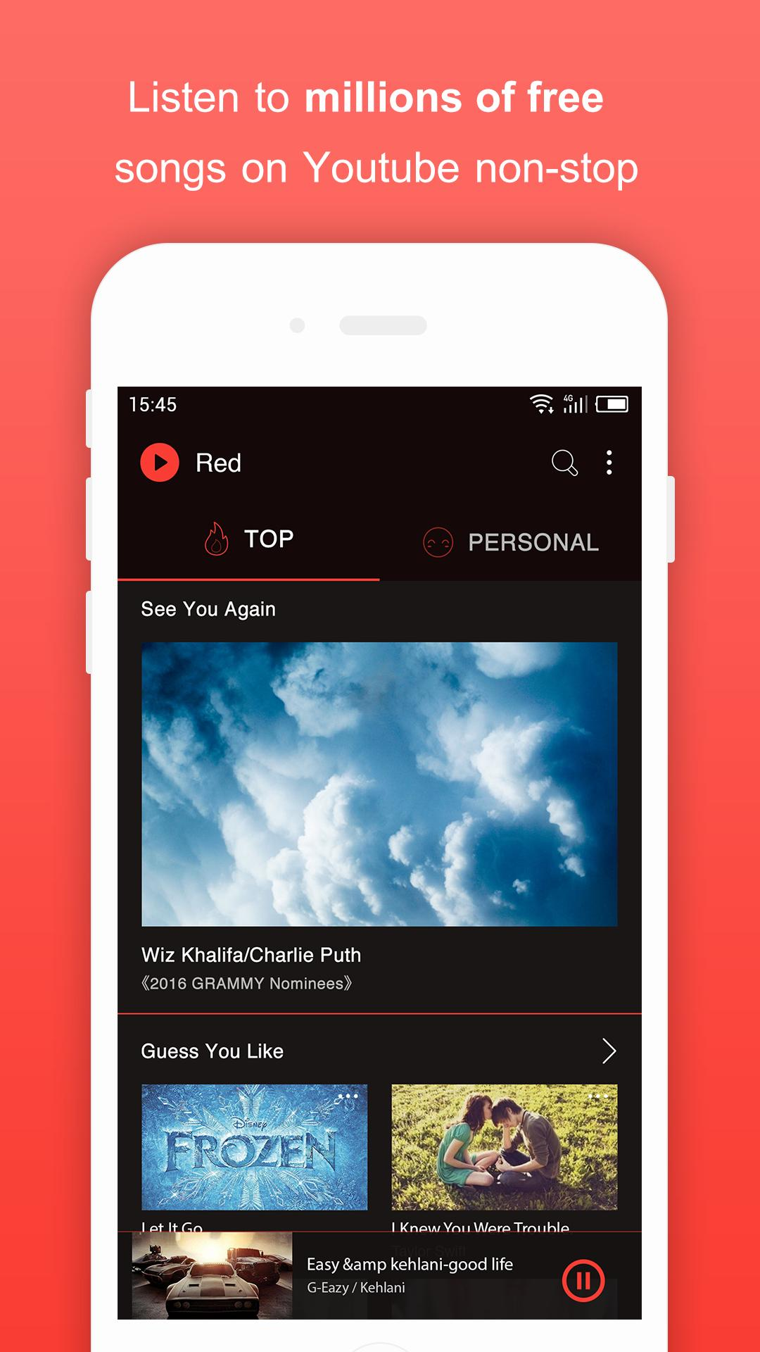 Free Music For Youtube Player Red For Android Apk Download