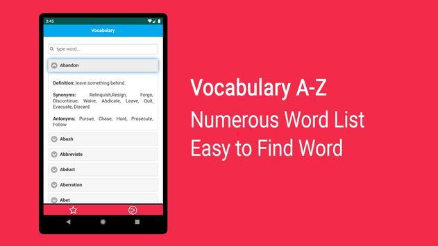 Vocabulary English screenshot 3