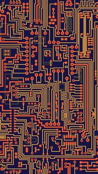 Circuits. Free electronic circuits wallpapers poster