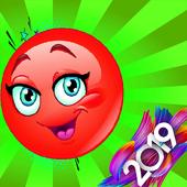 red cute ball-ball games icon