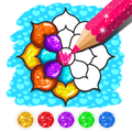 Rainbow Flower Coloring and Drawing