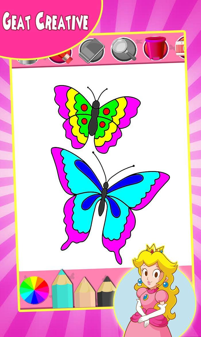 Juego De Colorear Mariposa For Android Apk Download
