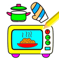 Kitchen Cooking Coloring - kids Coloring Game
